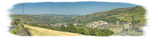 Looking down the Colne Valley over Marsden