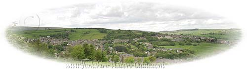 Haworth from across the Worth Valley