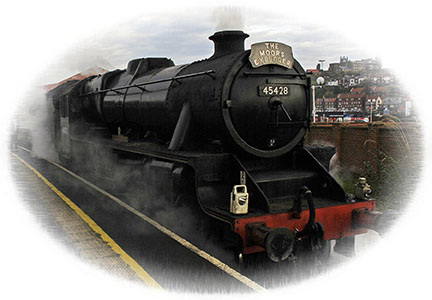 Yorkshire Steam Trains - The Moors Explorer is fired up and ready to leave Whitby