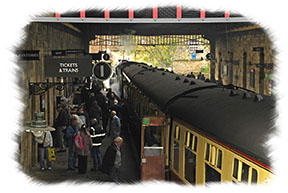 Yorkshire Steam Trains - An evocative scene from yesteryear on the North Yorkshire Moors Railway