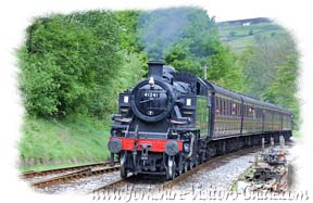 Yorkshire Steam Trains - Approaching Oxenhope Station on the Keighley Worth Valley Railway