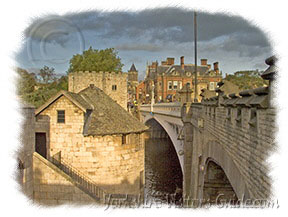 Yorkshire History - Picture of York Lendell Bridge across the River Ouse